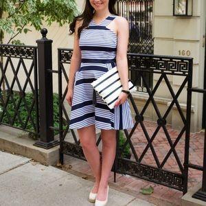 NWOT Draper James Blue Striped A-line Sundress